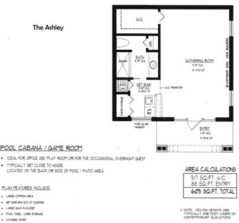 Poolhouse Plans by Pool House Floor Plan New House