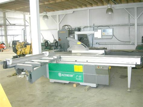 pre owned woodworking machinery used altendorf f45 elmo sliding table saw pre owned
