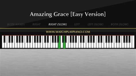 tutorial piano amazing grace amazing grace easy piano tutorial youtube