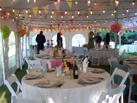 diy wedding reception lighting bunting and lights in tent future wedding stuff and