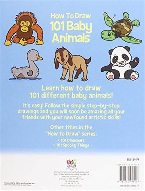 Drawing 101 Book by How To Draw 101 Baby Animals Step By Step Drawing Book