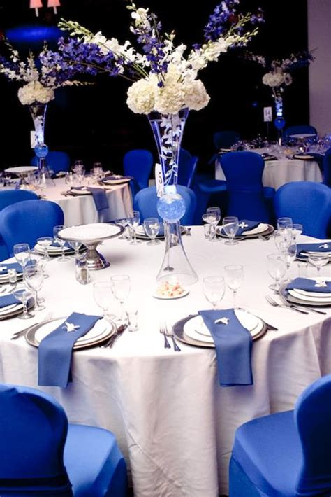 royal blue wedding caprice design