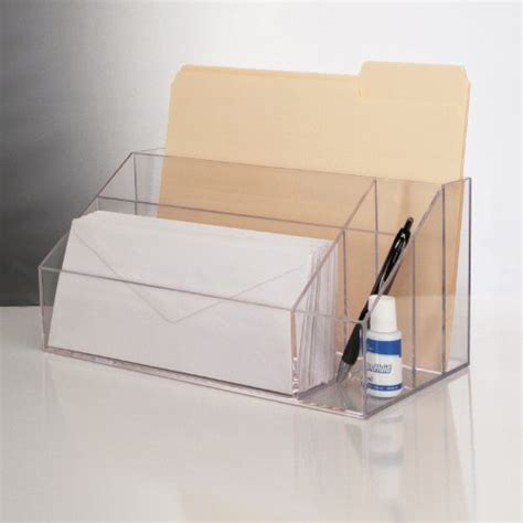 Acrylic Desk Organizers New Clear Acrylic Desktop Organizer Work Home Office Desk File Pen Free Shipping Ebay