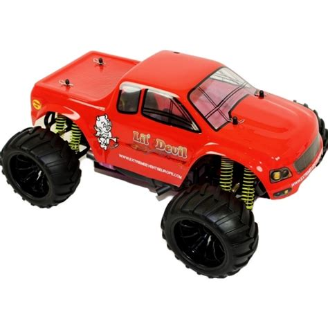 nitro monster truck rc 1 10 nitro rc monster truck lil devil