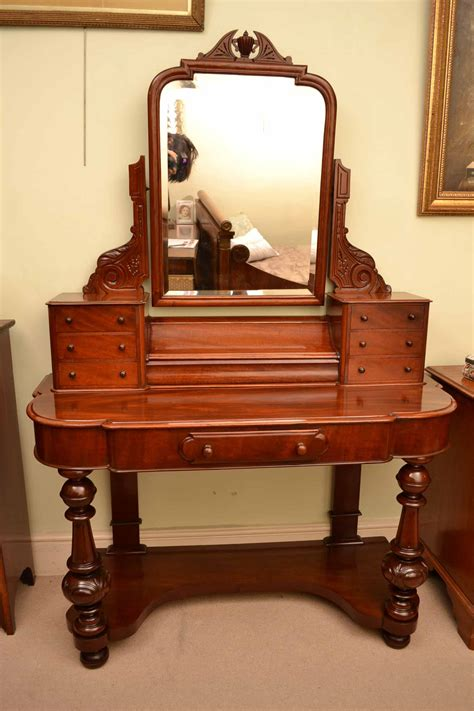antique vanity table with mirror and bench antique victorian mahogany dressing table with mirror