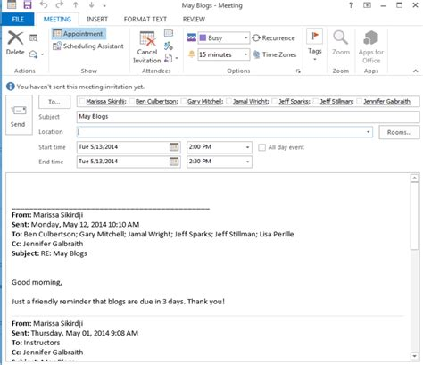 email template for meeting invitation turn an email into a meeting invite microsoft