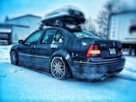 volkswagen gli slammed slammed mk4 gli snowstorm frozen stance cool pics