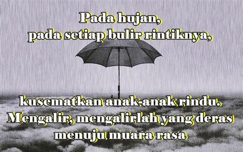 kumpulan ucapan kata kata hujan cinta romantis galau