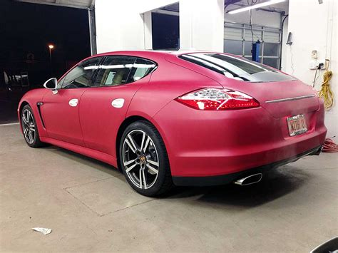 red porsche panamera porsche panamera matte cherry red wrap top class auto salon