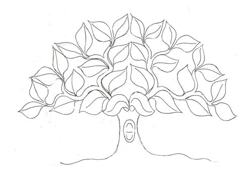 deciduous tree coloring page free deciduous trees coloring pages