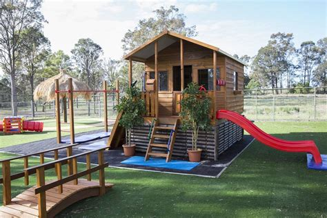 cubby house swing set extensive range of cubbies playgrounds aarons outdoor