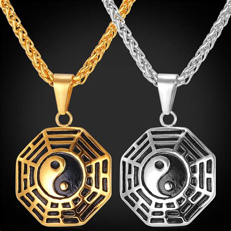 Taoism Sign Ancient Eight Diagrams Pendant Necklace Charms Yin get cheap gold jewelry aliexpress alibaba