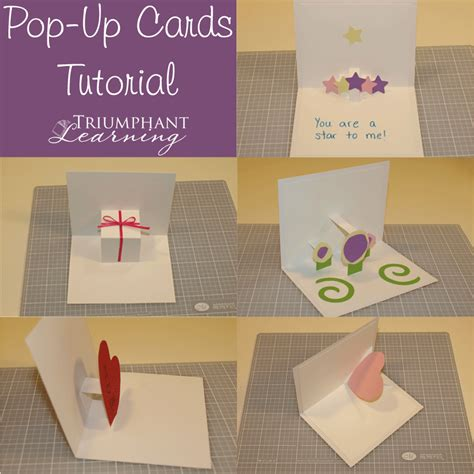 up cards to make diy pop up card tutorial triumphant learning