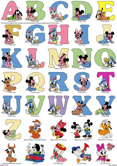 lettere alfabeto disney cole 231 227 o bordados baby disney gr 225 tis alfabeto 209