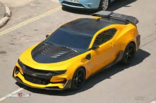 the new bumblebee car look at new bumblebee camaro for transformers 5