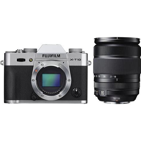 Fujifilm X T10 Kit 18 55mm Silver fujifilm x t10 18 135mm kit silver mirrorless cameras