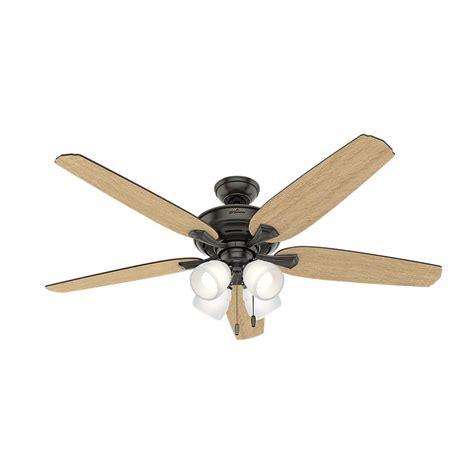hunter avia led indoor ceiling fan hunter channing 60 in led indoor noble bronze ceiling fan