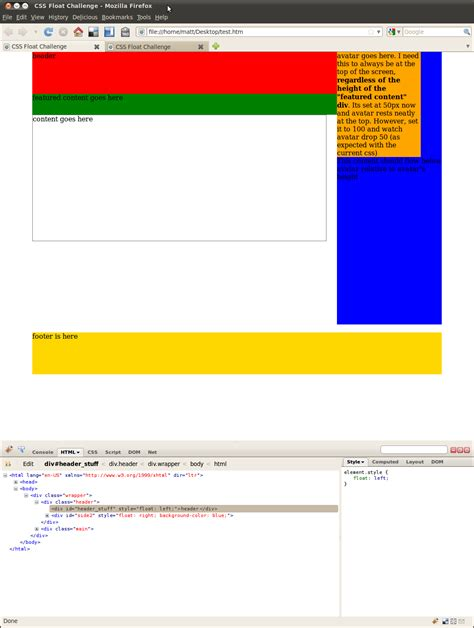 css layout right sidebar the impossible css layout stack overflow