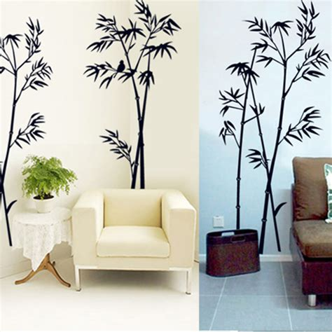 home decoration stickers diy art black bamboo quote wall stickers decal mural wall