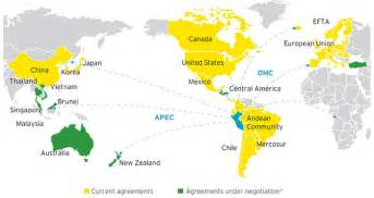 us free trade agreements map free trade agreements of new zealand