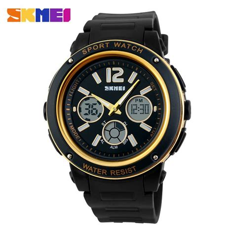 Jam Tangan Skmei Casio Led Ad1110 Blackblue skmei jam tangan analog digital pria ad1051 black gold