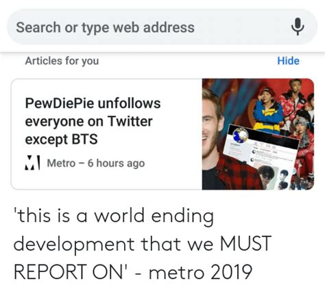 search  type web address articles   hide pewdiepie