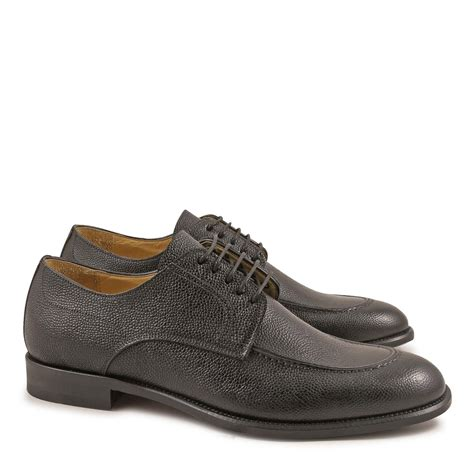 Handmade Shoes Scotland - black leather derby shoes for made in italy italian