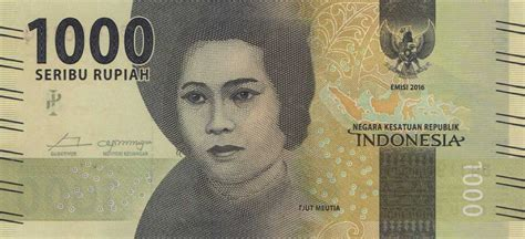 biography indonesian heroes realbanknotes com gt indonesia p154 1000 rupiah from 2016