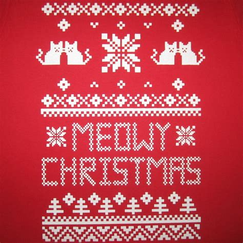 meowy christmas funny cat humor contest ugly sweater tacky party merry  shirt ebay