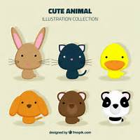 Cute Animal Collection Vector  Premium Download