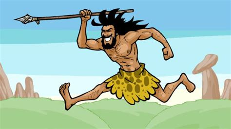 how to hunt with a spear with spear by cavemen times