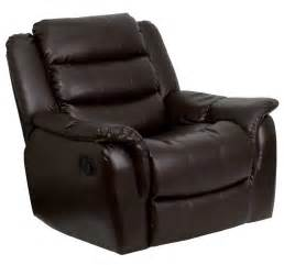 Recliner chairs for tables flash furnitureplush brown leather rocker