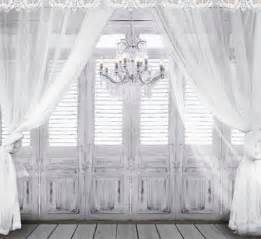 wedding vinyl backdrop 10x10ft vintage grey wooden doors candles gauze curtain wedding custom photography backgrounds