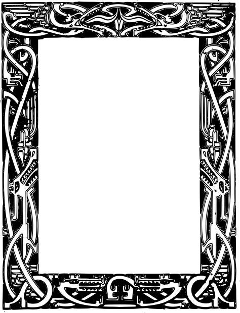 cornici celtiche clipart wonderful celtic dragons frame