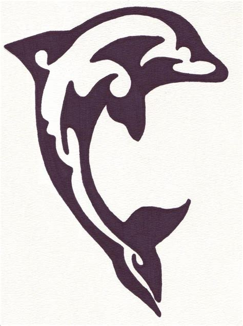 dolphin tribal tattoo gallery tribal dolphin designs picture own