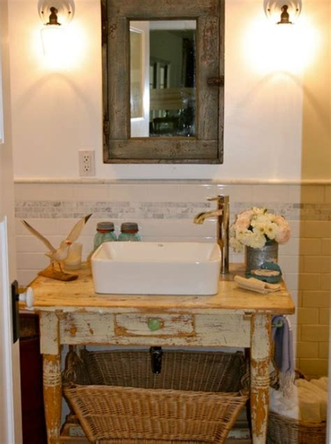Bathroom Table For Vessel Sinks 13 Creative Repurposing Ideas For A Beautiful D 233 Cor