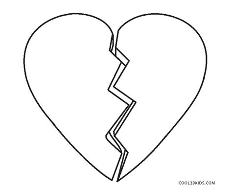 broken heart coloring page free printable heart coloring pages for kids cool2bkids