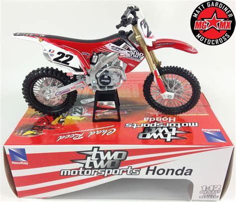 diecast motocross bikes chad reed honda crf 450 1 12 diecast model motocross