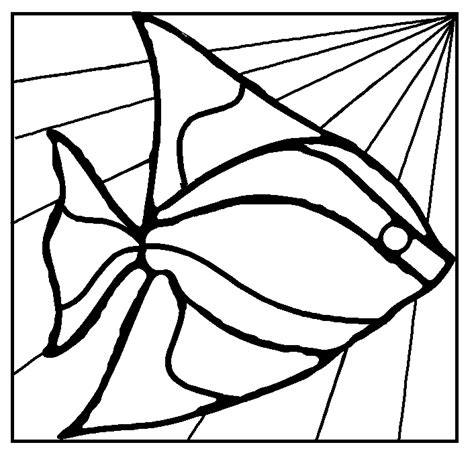 fish duck stained glass mosaic stepping stone pattern