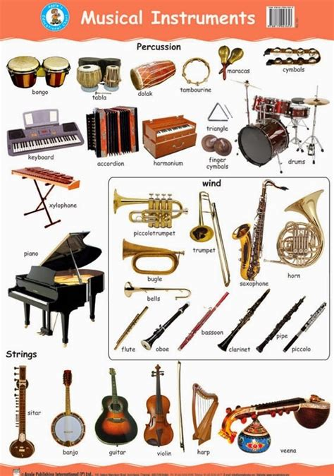 7 Instruments Id To Learn by Types Of Musical Instrument Lesupercoin Printables Worksheets