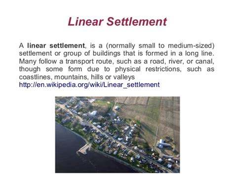 settlement pattern definition geography image gallery linear settlement