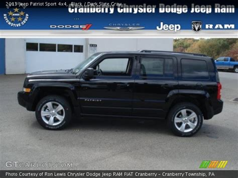 black 2013 jeep patriot sport 4x4 slate gray