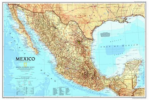 mexico map and mexico geographical map national geographic mexico map 1994 maps com