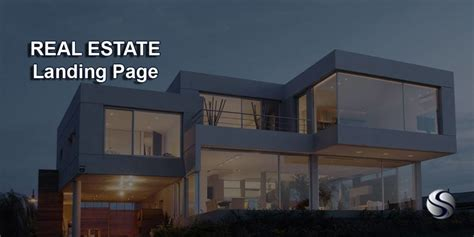real estate landing page digital landing page webdesign
