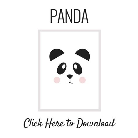 Panda Birthday Card Template by Nalle S House Free Printable Panda And The Easiest