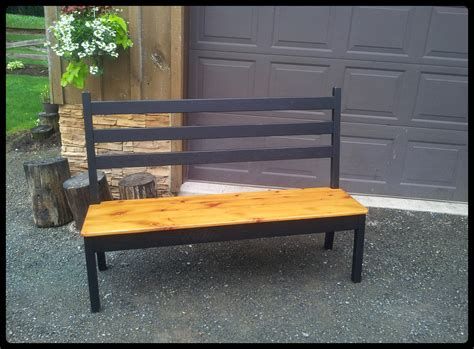 ladder back bench old barn star barnwood chairs benches and stools