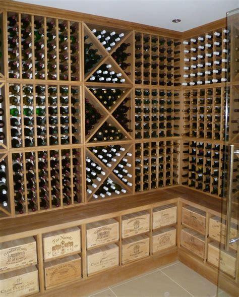 Wine Rack Uk by Oak Wine Racks Bespoke Solid Oak Wine Storage From