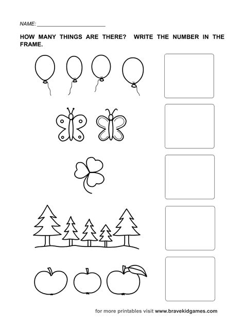 printable worksheets numbers 1 5 numbers 1 5 worksheets kindergarten preschool math