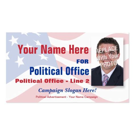 political caign business card templates non partisan political election caign business card