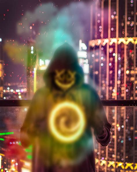 hacker neon mask editing png background stock